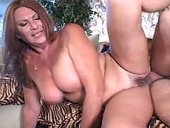 Thick fat cock throat gags this mature sun dazed blonde