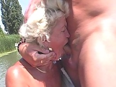 Old ugly whore gets facial