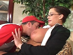 Brunette MiLF teaches this boy new tricks