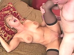 Mom sucks balls and gets her ass fucked