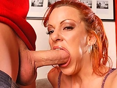 Big titted milf gets fucked by young hard cock