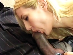 Sexy Blonde Mommy Clestia Gets Pounded By Enormous Black Cock