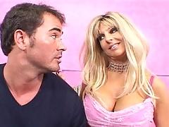 Big tit blonde MILF gets tag teamed by two cum shooting hard cocks