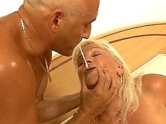 Blondie granny fucking and sucking hard cock