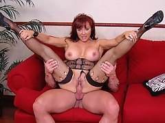 Busty mom Vanessa pussy fucked by a bodybuilder