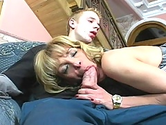 Jennifer's a naughty older seductress who finds an eager young guy