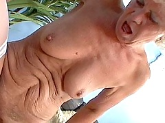Old grizzled granny fucked by young hard dick