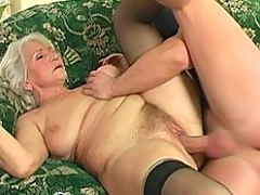 Very old Norma is fucked by a big crazy burglar