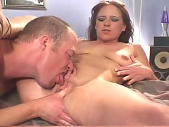 Brunette has a pussy licking good time