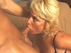 Mom rubs her clit and gets butt fucked