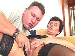 Hairy pussied granny fucking