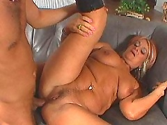 Grandma gets cock into her ass