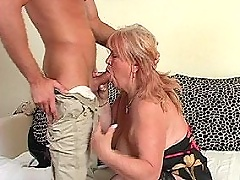 Old slut fucking with her son
