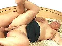 Ugly fat mature gets fucked