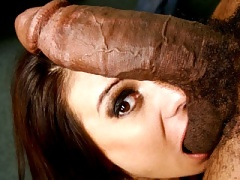 Mature woman being banged by huge black dick