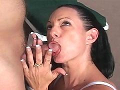 Jessica Cummins is a dark-haired, experienced cocksucker!